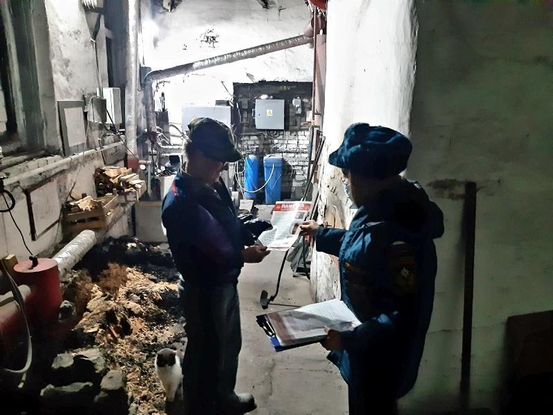 Сотрудники МЧС России проверили противопожарное состояние котельных в Багратионовске